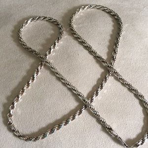 HEAVY Italian Sterling Rope Chain